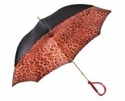"""Pasotti Luxusní dámský deštník hůl """"Gepard"""" mech. černo-červený"""