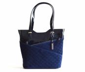 Bright krásná kabelka kožená A4 se vzorem modrá DOPORUČUJEME