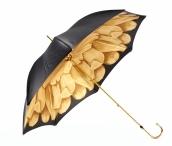 """Pasotti Luxusní dámský deštník holový """"Květ"""" a kamínky černý"""