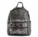 Bright Dámský batoh A4 velký i na jedno rameno 2 zipy tmavě šedý