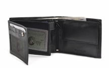 Bright Pánská peněženka kožená na hodně dokladů na šířku černá