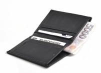 Bright Dokladovka - pouzdro na karty a bankovky kožené černé