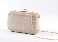 Společenská kabelka pouzdrová lesklá zlatá