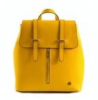 Bright Batoh dámský elegantní kožený žlutý