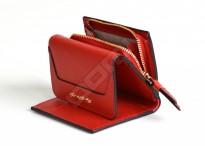 SAMSONITE Dámská peněženka LADY SAFFIANO II malá kožená červená
