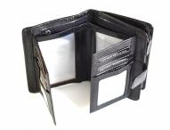 Valentini Dámská peněženka střední na výšku vybavená kožená černá