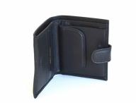 Valentini Pánská peněženka na výšku kožená zapínací jednoduchá černá