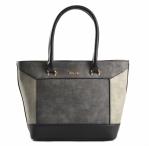 Bright Dámská kabelka do ruky A4 barevně skládaná šedá