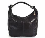 Fashion kabelka dámská kožená A4 lesklá černá