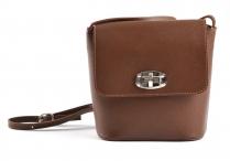 Bright Fashion kabelka-kapsa kožená dámská hnědá