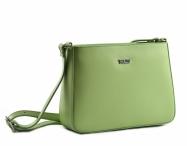 Bright Dámská kabelka menší kožená jednoduchá zelená