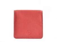 Bright Peněženka/pouzdro na mince kožené čtverec růžové