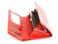Valentini Dámská peněženka na šířku kožená s rámečkem červená