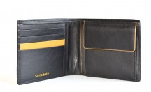 SAMSONITE Pánská peněženka OUTL.SLG na šířku jednoduchá kožená černá