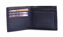 Pánská kožená peněženka jednoduchá matná na šířku modrá