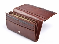 Valentini Dámská peněženka klasická se zipem na mince kožená hnědá