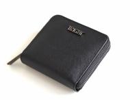 Bright Dámská peněženka zipová kožená hluboká čtvercová černá