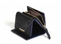 SAMSONITE Dámská peněženka LADY SAFFIANO II na výšku malá kožená černá