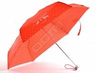 SAMSONITE Deštník Alu pattern skládací mech. super mini kapky červený