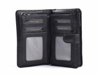 Valentini Dámská peněženka na výšku kožená se zipem na drobné černá