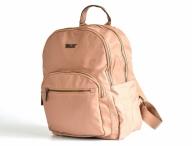 Bright Dámský batoh A5 látkový s 2 hlavními kapsami tm.béžový