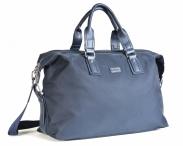 Bright Cestovní taška dvojzipová látková 49/16 Cabin tm.modrá/modrá
