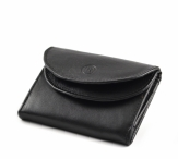Bright Dámská mini peněženka kožená dvojitá černá