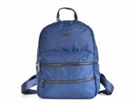 Bright Dámský batoh A5 látkový s mnoha zipy a kapsami modrý