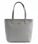 Bright Dámská elegantní kožená kabelka A4 hladká šedá