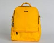BRIGHT Dámský batoh přes ramena střední klasický zipový žlutý