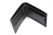 LAURA BIAGIOTTI Peněženka pánská kožená na šířku prošívaná černá