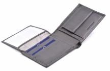 Sergio Tacchini Pánská peněženka kožená klasicky vybavená šedá