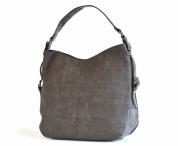 Bright Elegantní kabelka přes rameno velká A4 oblá šedá