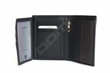 Samsonite pánská peněženka kožená NYX 3 vybavená na karty černo-hnědá