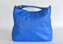 Kabelka (vak) dámská kožená velká A4 měkká modrá