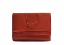 Bright Dámská peněženká malá na mince i bankovky kožená červená