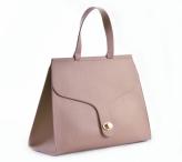 Bright Elegantní dámská kabelka s klopnou a zámkem A4 starůžová