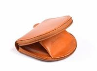 Unisex kožená podkova na drobné mince rezavá hnědá