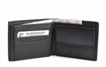 Bright Pánská peněženka kožená klasická na šířku černá