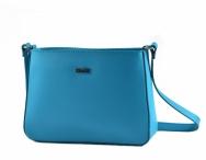 Bright Dámská kabelka menší kožená jednoduchá modro-tyrkysová