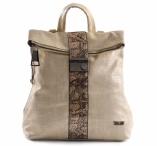 Bright Dámský batoh A4 s dekorativním pruhem přeložený zlatý