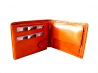 Pánská peněženka kožená na šířku vybavená hnědá rezavá