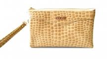BRIGHT dámská peněženka nebo kabelka kroko-lak písková