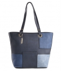 Bright Dámská kabelka do ruky A4 barevně kombinovaná modrá