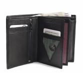 Bright Pánská peněženka kožená vybavená na výšku černá