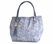 akce - 50% Bright Fashion kabelka přes rameno A4 se střapcem modrá 382028e67f7