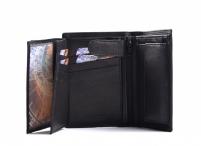 Pánská peněženka kožená na výšku velmi vybavená černá