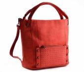 Bright Dámská kabelka A4 přes rameno s cvočky červená
