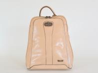 Bright Dámský batoh A5 jemně lesklý béžový