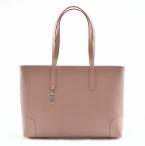BRIGHT Elegantní kabelka kožená vzorovaná na dokumenty růžová